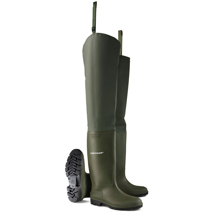 Dunlop Thigh Wader Size 12 Green Ref PTW12 *Up to 3 Day Leadtime*