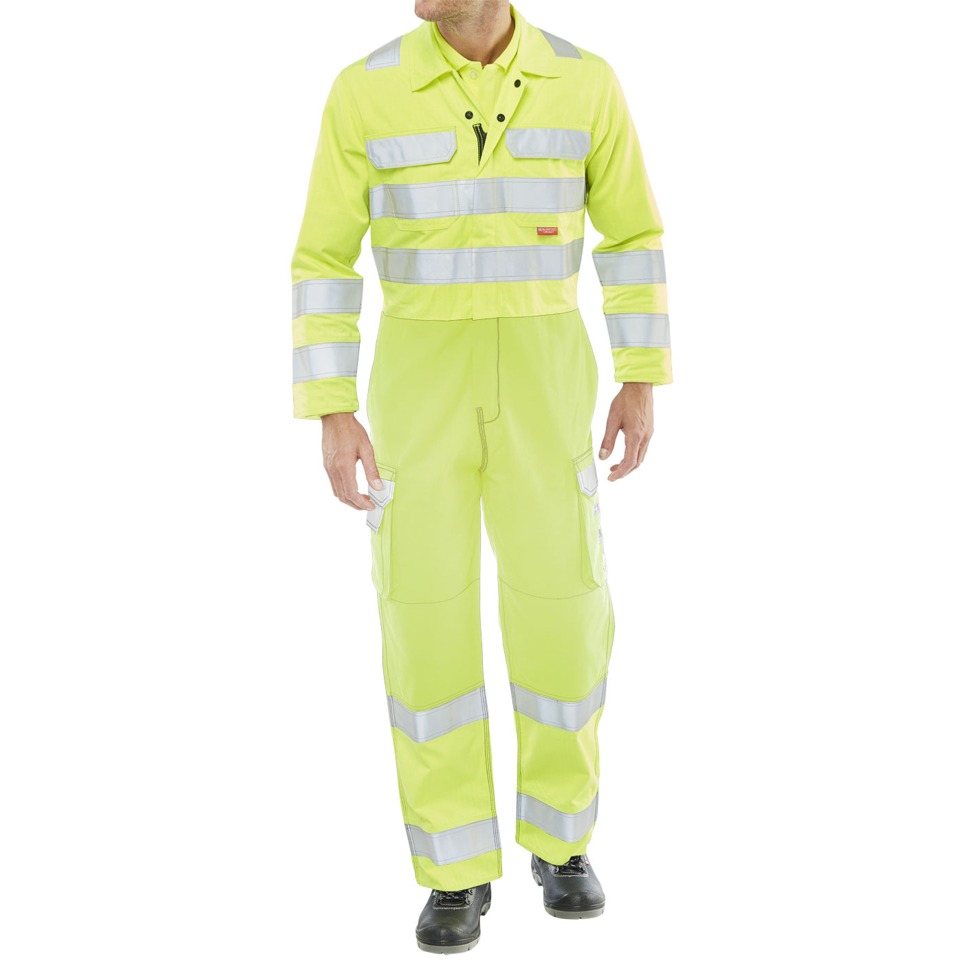 Click Arc Flash Coveralls Hi-Vis Two Tone Size 40 Yellow Ref CARC7SY40 *Up to 3 Day Leadtime*