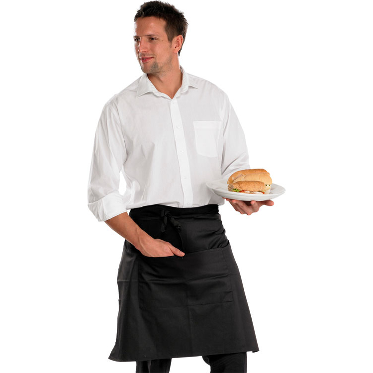 Click Workwear Chefs Half Apron Black 29X22 Ref CCCHABL29X22 Up to 3 Day Leadtime