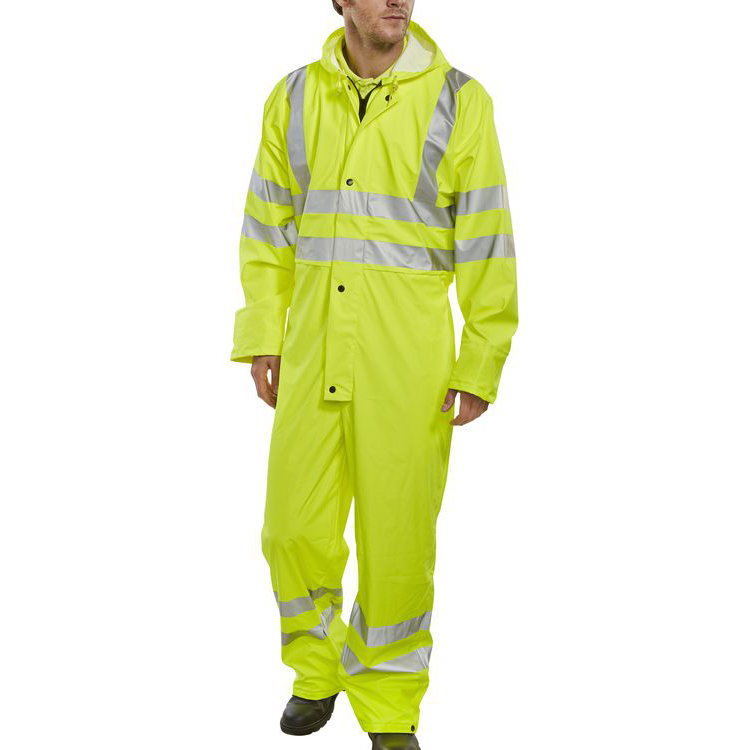 B-Seen Super B-Dri Coveralls Breathable 2XL Saturn Yellow Ref PUC471SYXXL *Up to 3 Day Leadtime*