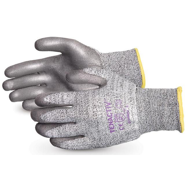 Superior Glove Tenactiv Cut-Resist Composite Knit PU Palm 10 Grey Ref SUSTAFGPU10 *Up to 3 Day Leadtime*