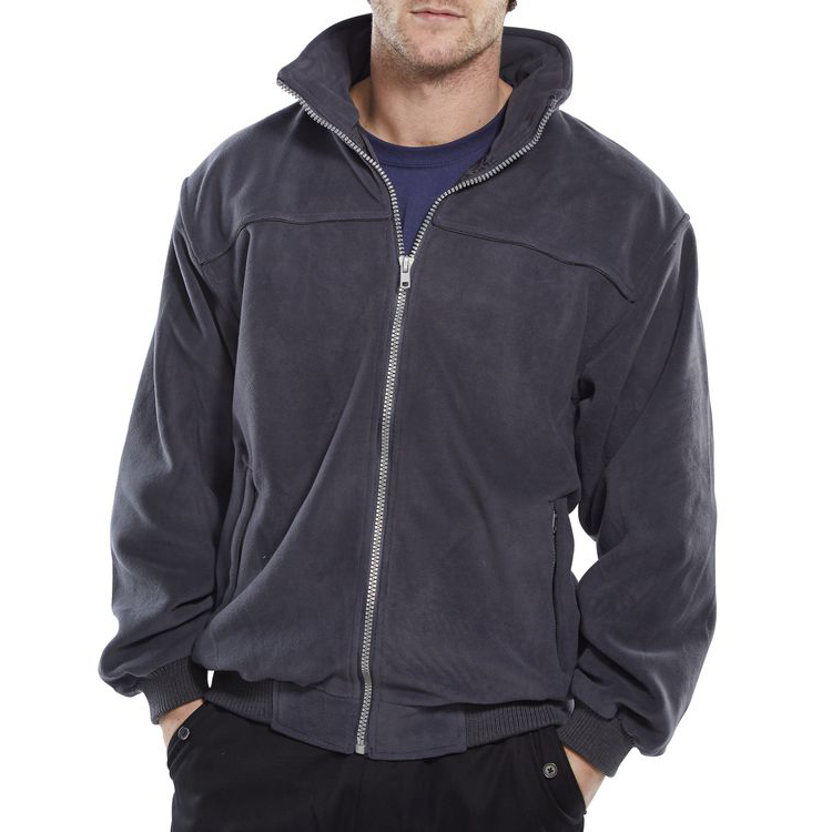 Click Workwear Endeavour Fleece with Full Zip Front Large Grey Ref EN30GYL *Up to 3 Day Leadtime*
