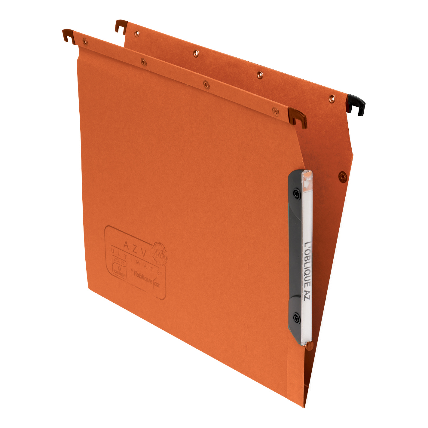 Lateral Files Elba Ultimate AZV Linking Lateral File Manilla 15mm V-base 240gsm A4 Orange Ref 100330473 Pack 25
