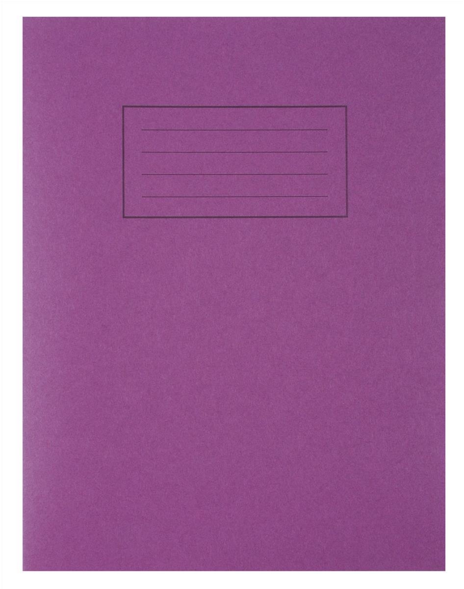 Image for Silvine Exercise Book Ruled and Margin 80 Pages 229x178mm Purple Ref EX100 [Pack 10]