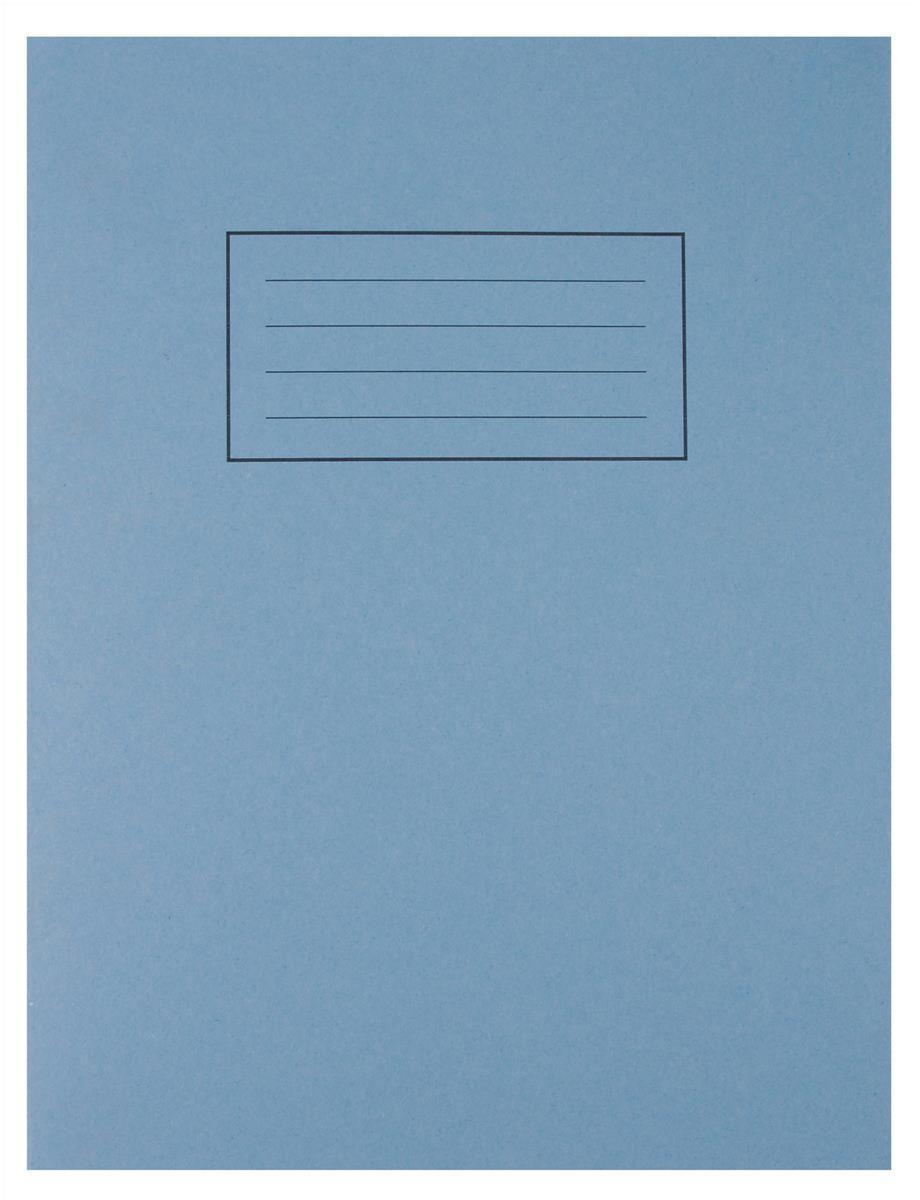 Image for Silvine Exercise Book Ruled and Margin 80 Pages 229x178mm Blue Ref EX104 [Pack 10]