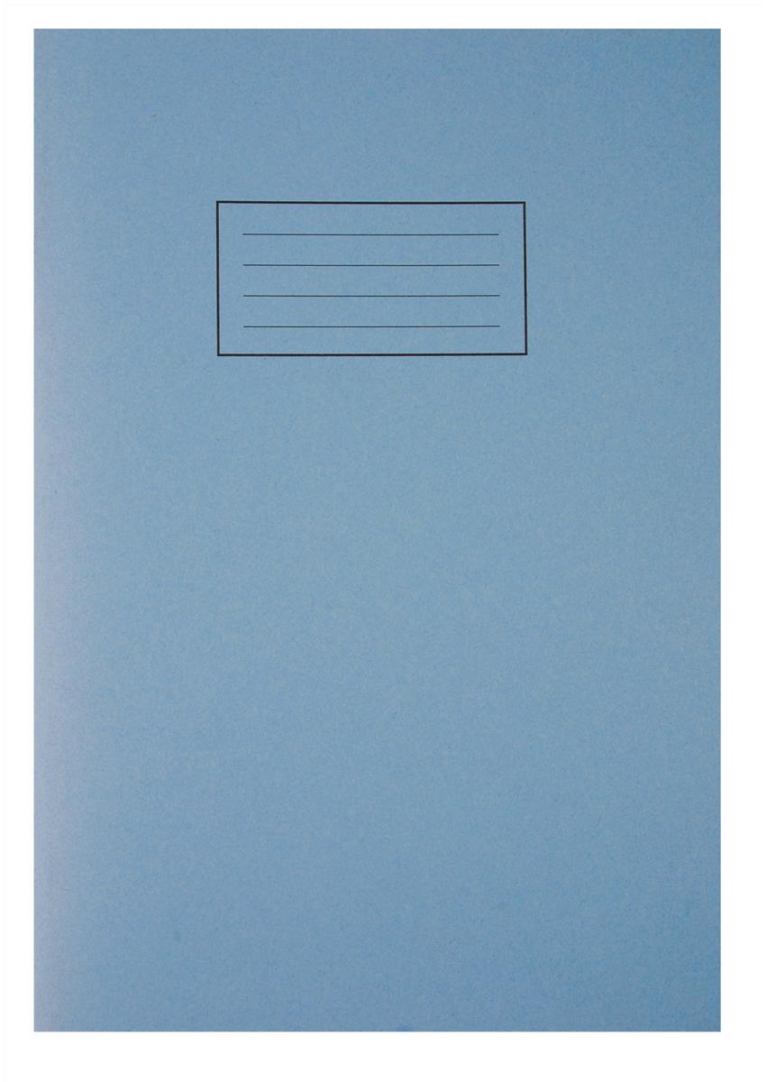Image for Silvine Exercise Book Ruled and Margin 80 Pages A4 Blue Ref EX108 [Pack 10]