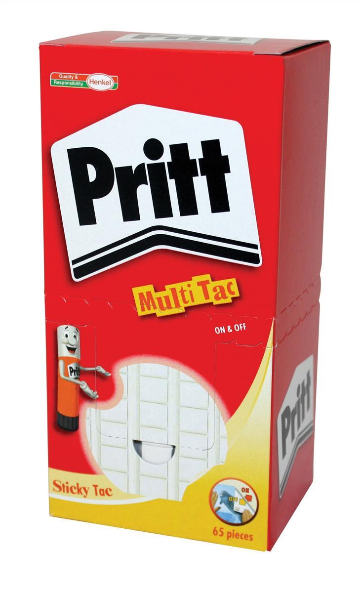 Image for Pritt Sticky Tac Mastic Adhesive Non-staining White Ref 1563151 [Pack 12]