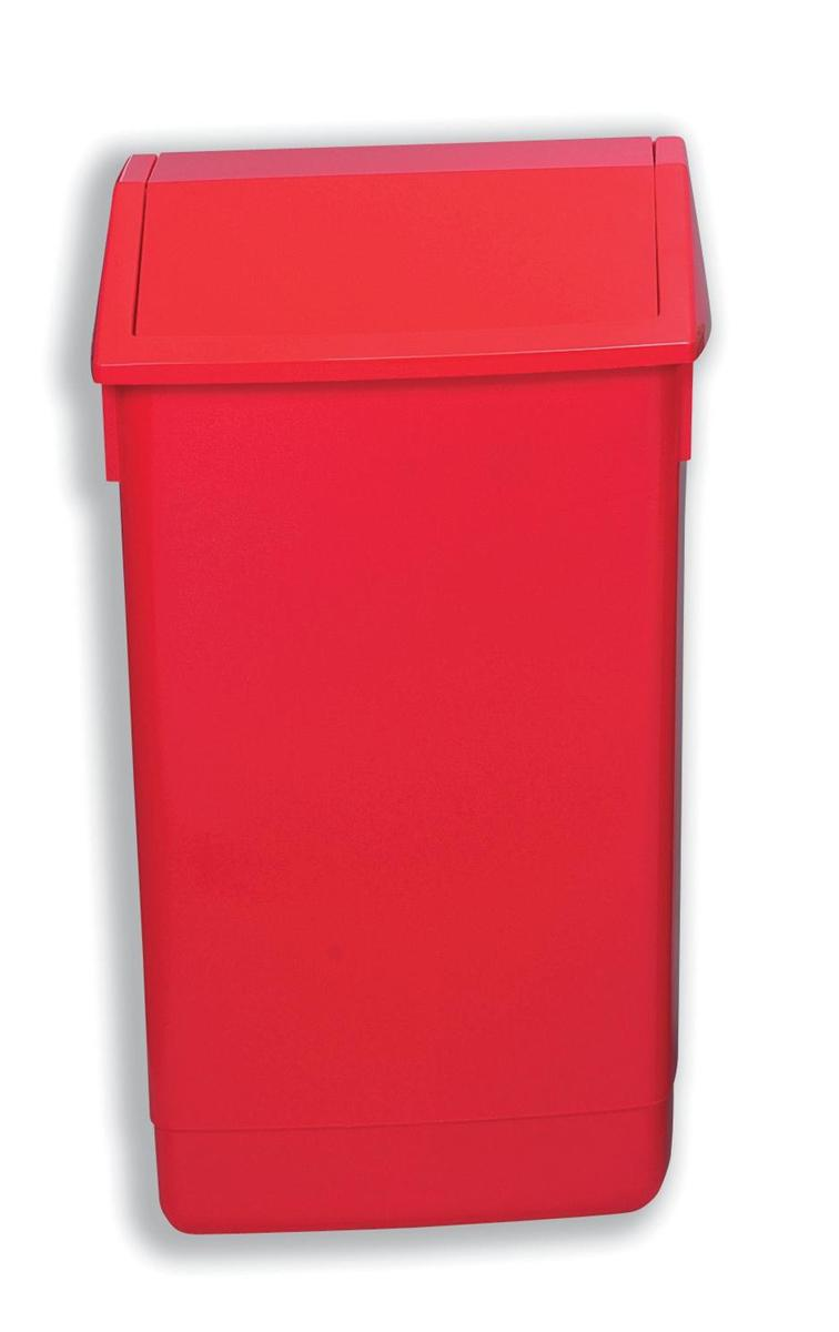 Image for Flip Top Bin Composite Plastic 60 Litres Red