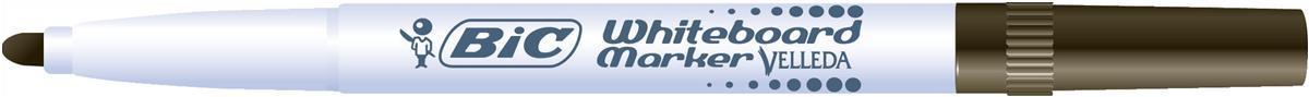 Bic Velleda 1741 Whiteboard Marker Bullet Tip Line Width 2mm Black Ref 1199174109 [Pack 12]