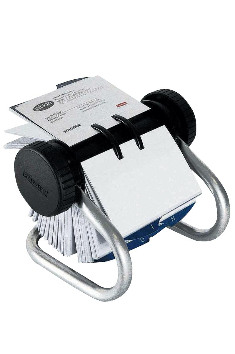 Image for Rolodex Classic 200 Rotary Business Card Index File with 200 Sleeves 24 A-Z Index Tabs Chrome Ref 67237