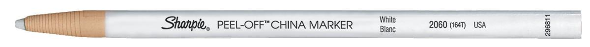 Image for Sharpie China Wax Marker Pencil Peel-off Unwraps to Sharpen White Ref S305061 [Pack 12]