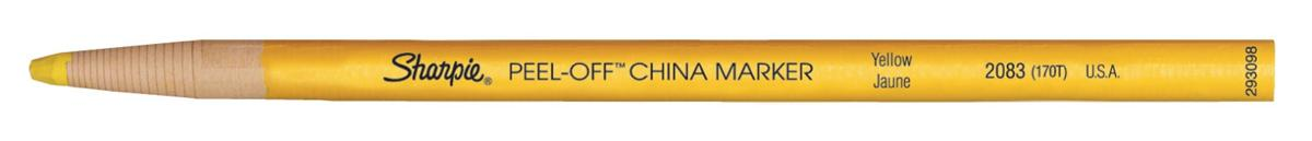 Image for Sharpie China Wax Marker Pencil Peel-off Unwraps to Sharpen Yellow Ref S0305101 [Pack 12]