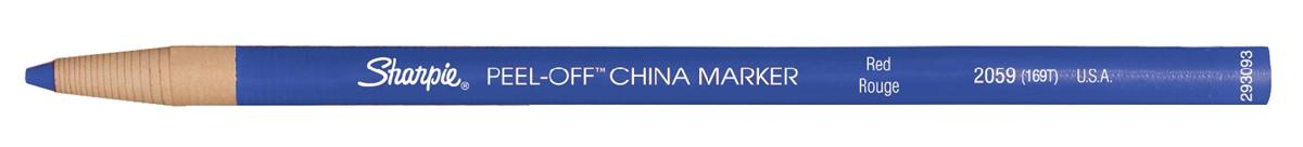 Image for Sharpie China Wax Marker Pencil Peel-off Unwraps to Sharpen Blue Ref S0305091 [Pack 12]