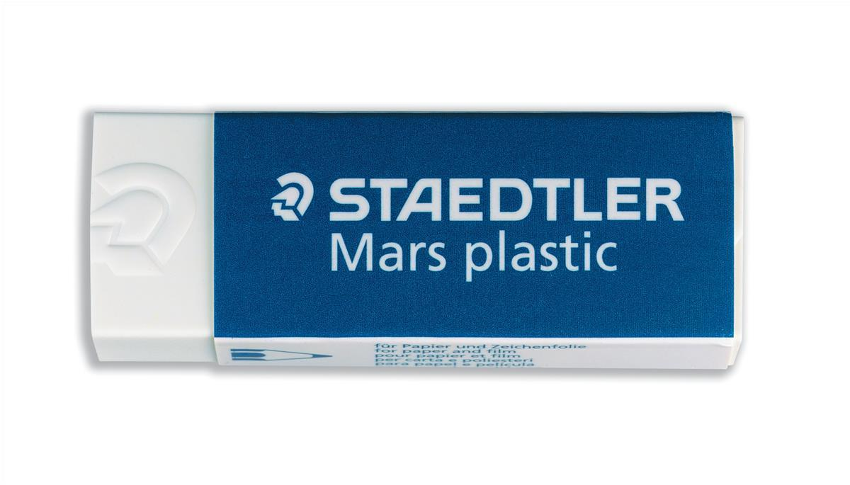Image for Staedtler Mars Plastic Eraser Premium Quality Self-cleaning 65x23x13mm Ref 52650 [Pack 20]