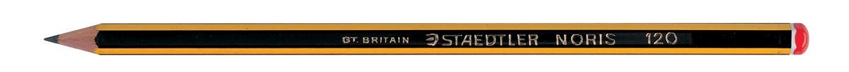 Image for Staedtler 120 Noris Pencil Cedar Wood 2B Orange Cap Ref 120-0 [Pack 12]