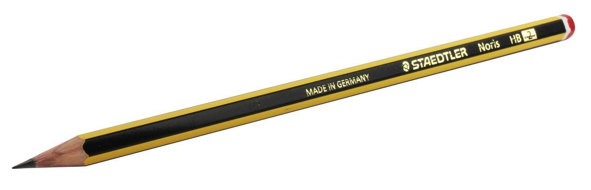 Staedtler 120 Noris Pencil Cedar Wood HB Red Cap Ref 120-2 [Pack 12]