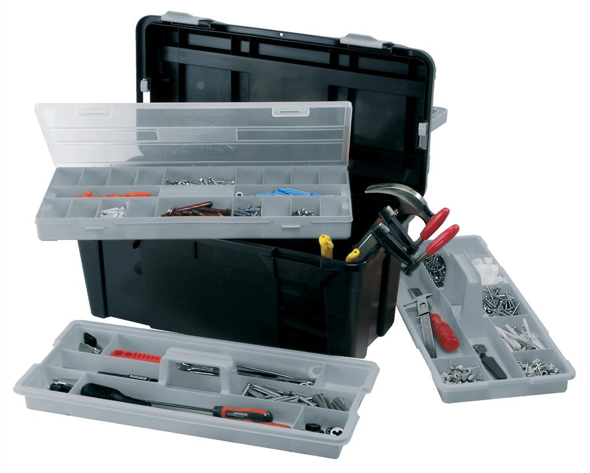 Image for Raaco 23 Inch Toolbox with Two Removable Trays Black Ref 715195