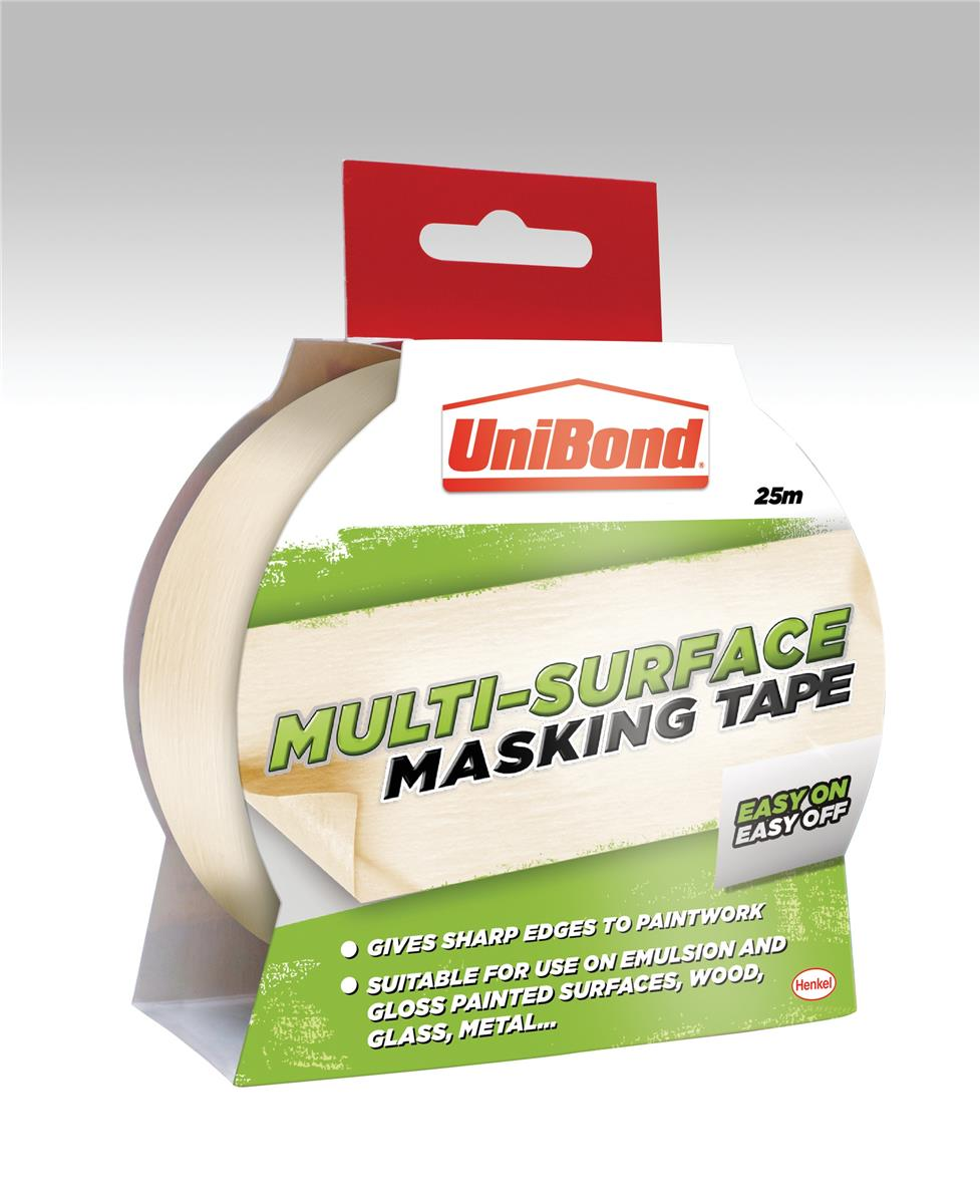 Image for UniBond Masking Tape Easy On/Off 25mm x 25m Ref 1667769