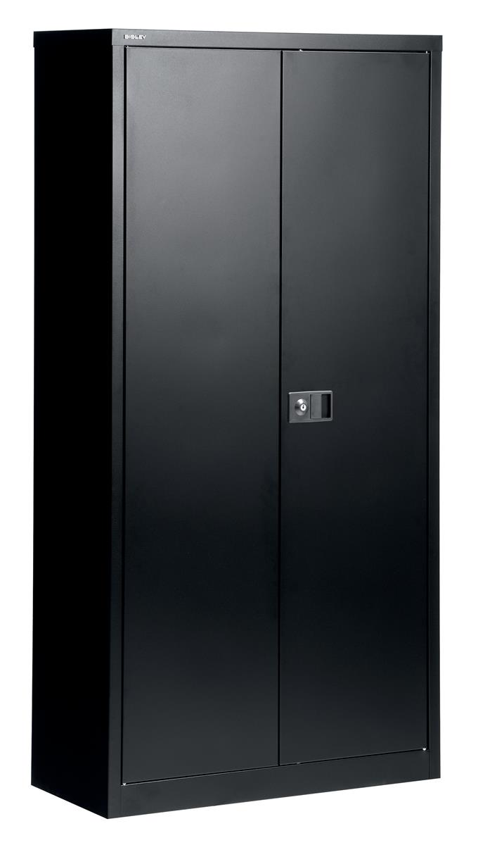 Image for Trexus Storage Cupboard Steel 2-Door W914xD400xH1806mm Black