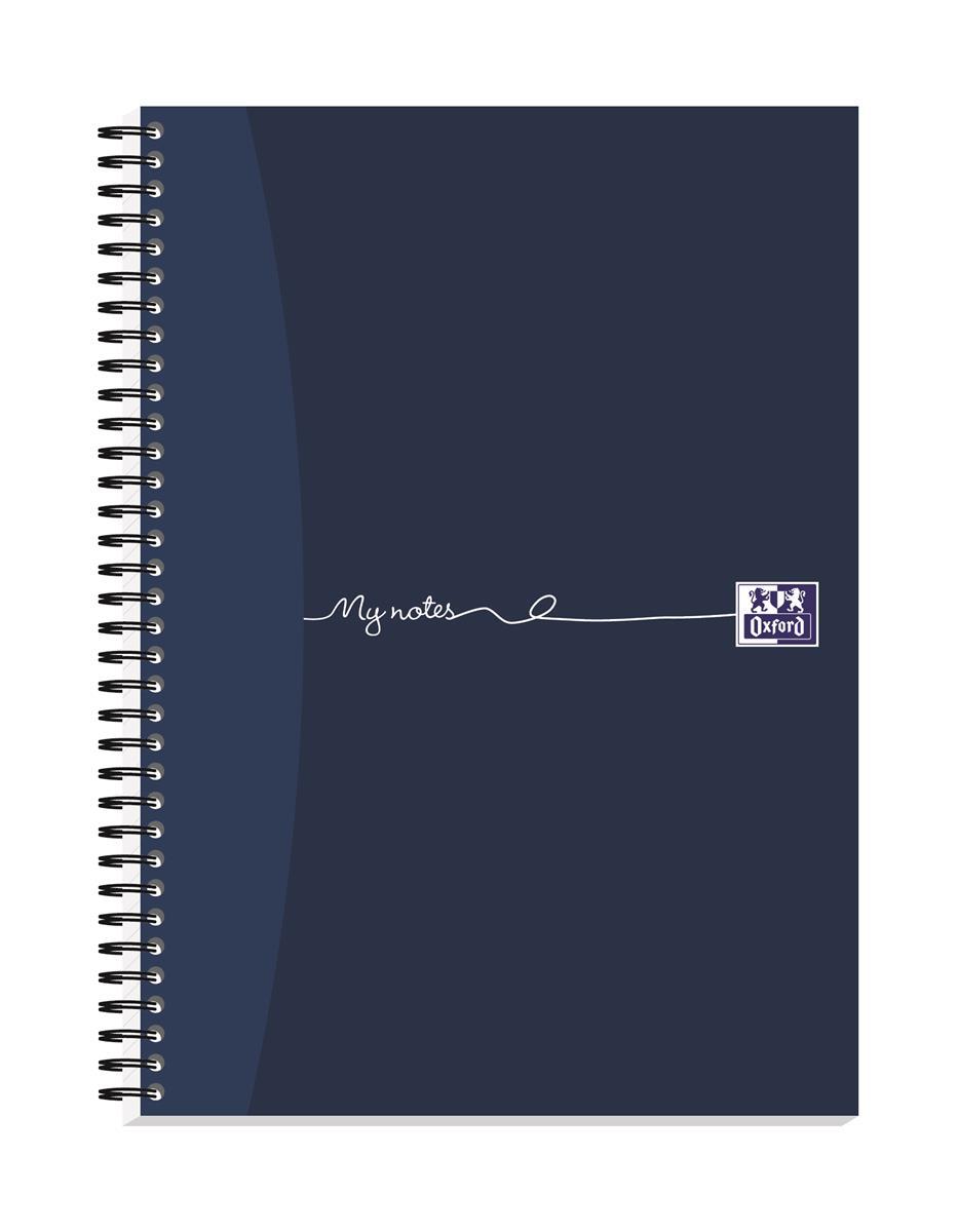 Oxford MyNotes Notebook Wirebound Feint & Margin 90gsm 200pp A4 Ref 100082373 [Pack 3]