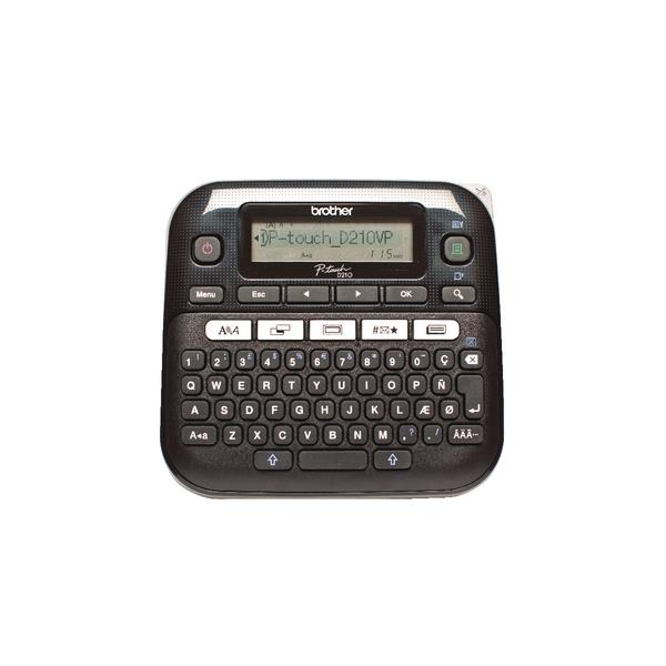 Image for Brother P-Touch Labelmaker Desktop and Case 8 fonts TZE max. 12mm Ref PTD210VP