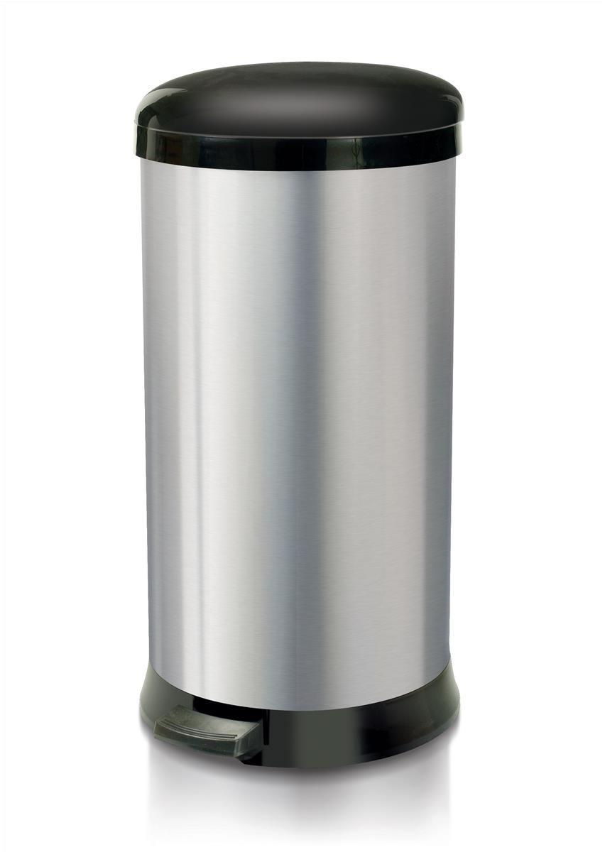 Image for Addis Pedal Bin Cushion Close 30 Litre Stainless Steel Ref 507650