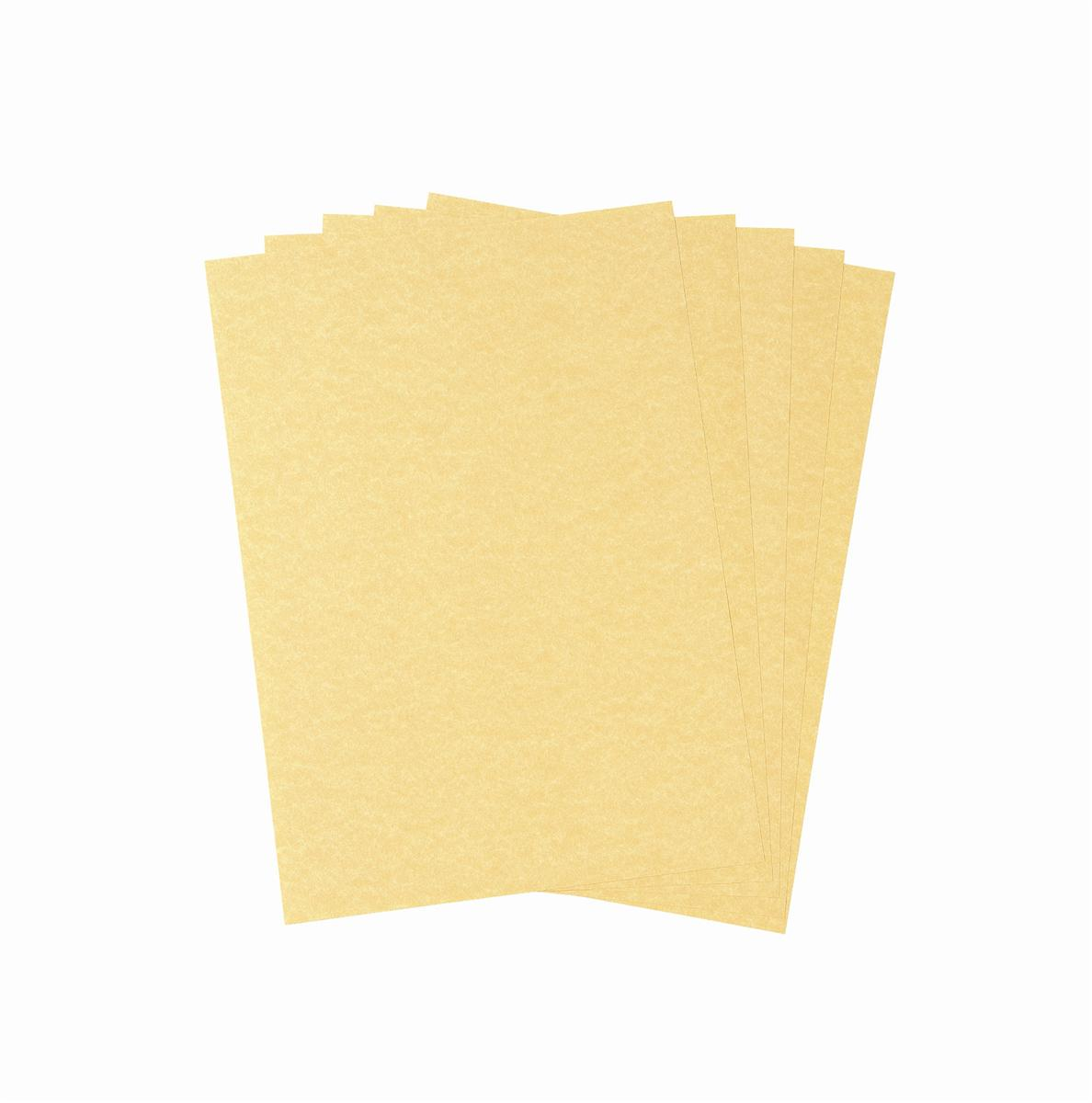 Image for Parchment Letterhead and Presentation Paper 95gsm A4 Gold [100 Sheets]