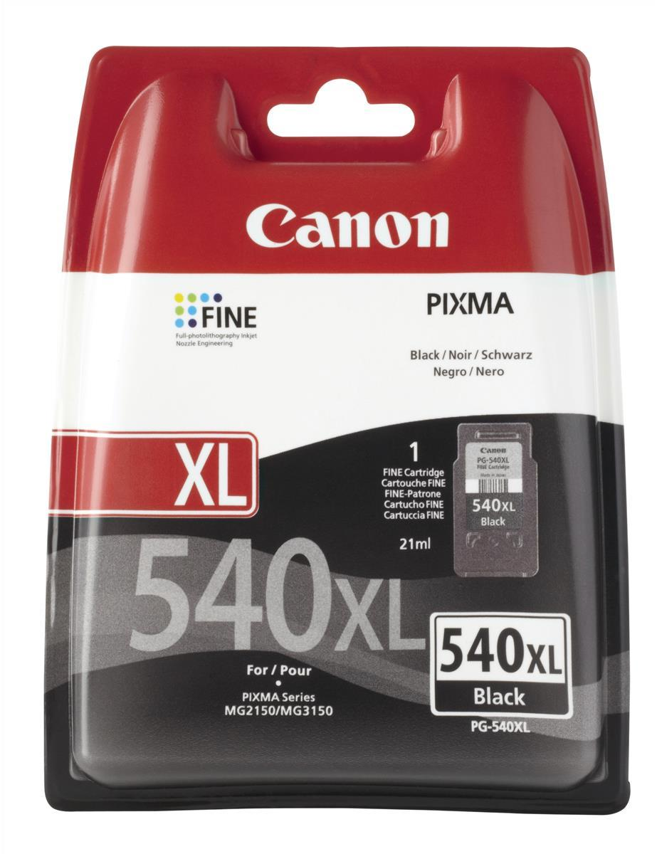 Canon PG-540XL Inkjet Cartridge High Yield Page Life 600pp 21ml Black Ref 5222B005AA