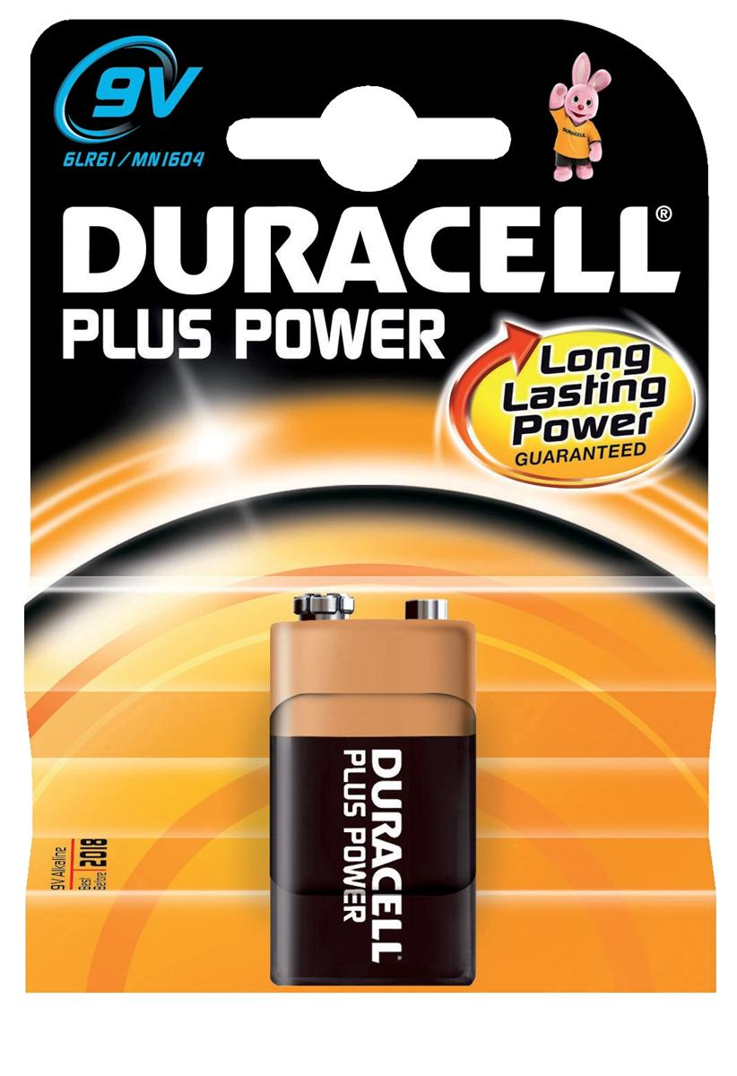 Image for Duracell Plus Power MN1604 Battery Alkaline 9V Ref 81275454