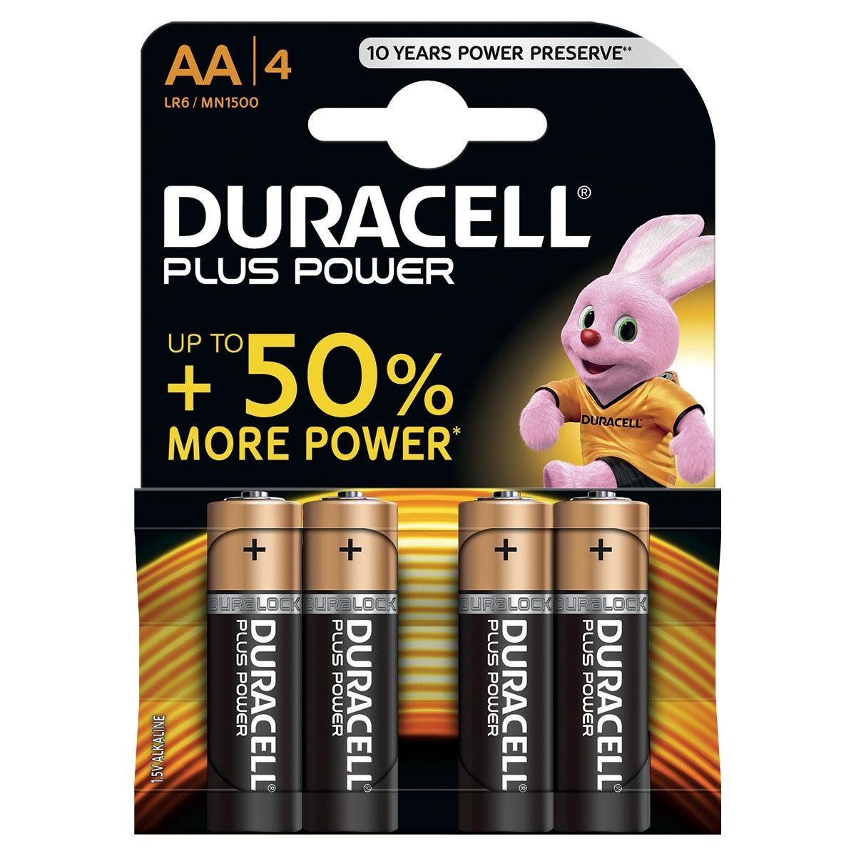 Image for Duracell Plus Power Battery Alkaline 1.5V AA Ref 81275182 [Pack 4]