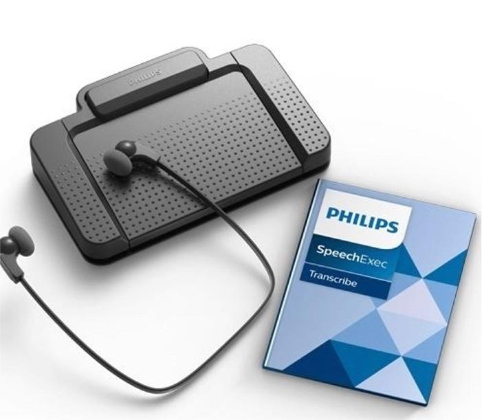 Philips Transcription Kit Software Headset 234 Foot Control 210 Web Licence Ref LFH7177/05