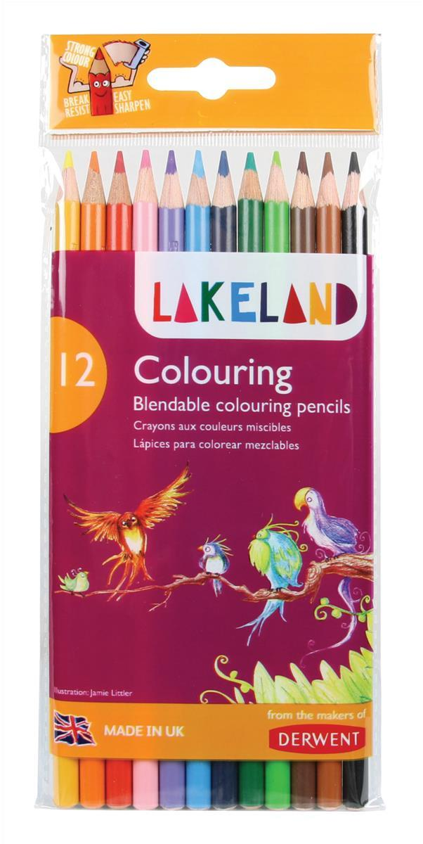 Image for Lakeland Colouring Pencils Round-barrelled Soft Blendable Assorted Ref 33356 [Pack 12]