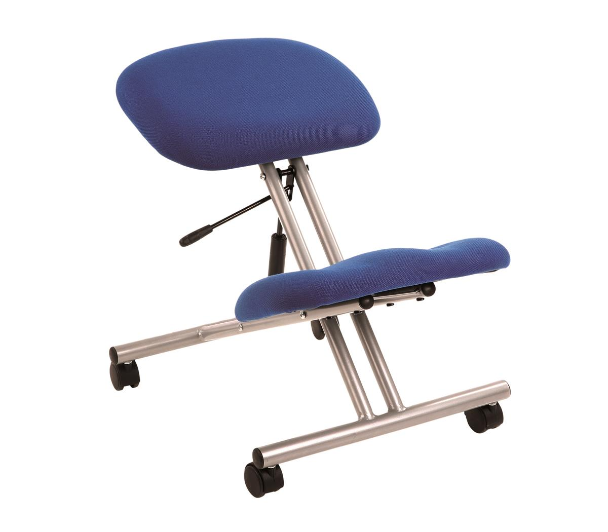 Image for Trexus Kneeling Chair Angle Adjustment Padded Blue Ref PS2144S