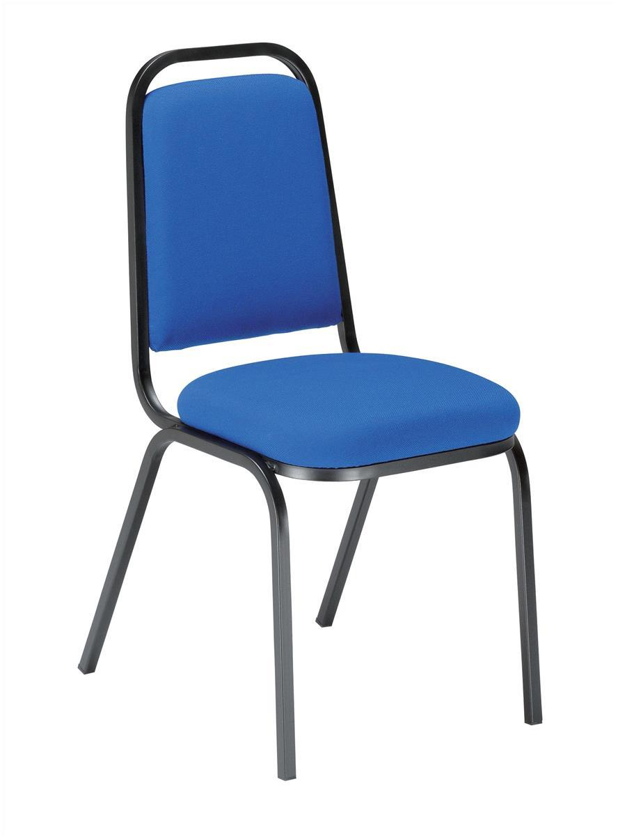 Image for Trexus Visitor Chair Stackable Pre-assembled Fabric Blue