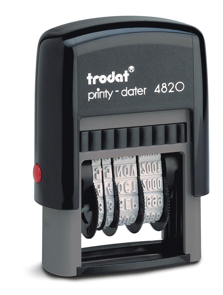 Image for Trodat Printy 4820 Line Dater Stamp 4mm Refillable Black Ref 74000