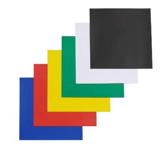 Nobo Magnetic Squares Vinyl Self-adhesive 150x150mm Black Ref 1901103 [Pack 6]