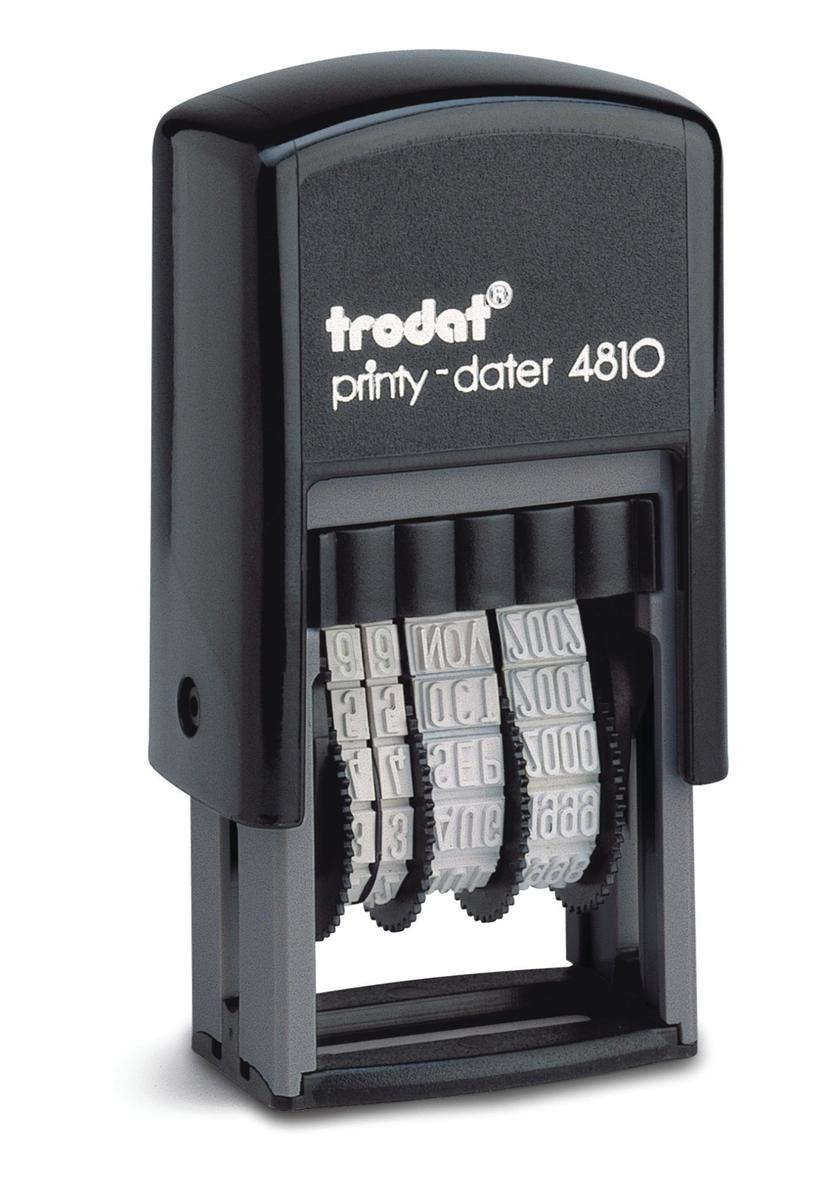Image for Trodat Printy 4810 Budget Mini Dater Stamp Self-inking 20x3.8mm Black Ref 70169