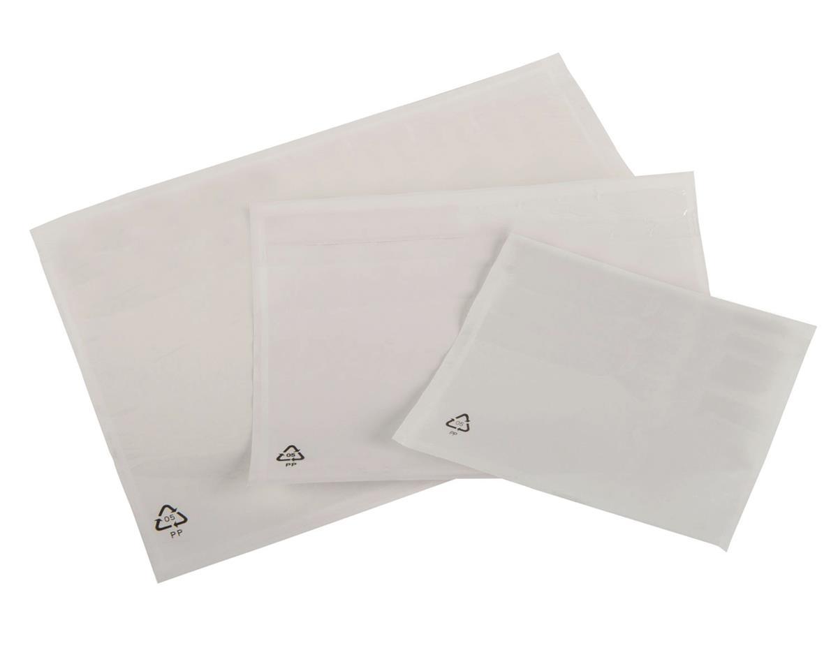 Image for Packing List Envelopes Polythene A6 Plain 158x110mm [Pack 1000]