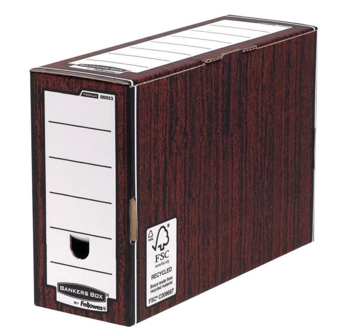 Image for Bankers Box by Fellowes Premium Transfer File Woodgrain Ref 00053-FF [Pack 10]