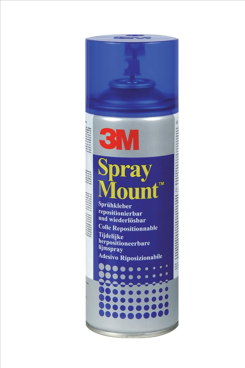 3M SprayMount Adhesive Spray Can CFC-Free Non-staining 200ml Ref SMOUNT