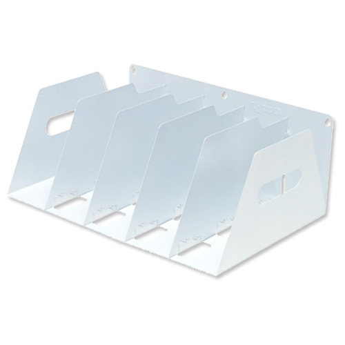 Image for Lever Arch Filing Rack Portable Rigid Metal W425xD300xH160mm White