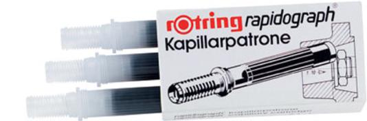 Image for Rotring Ink Cartridges For Rapidograph Pens Black Ref S0194650 [Pack 3]