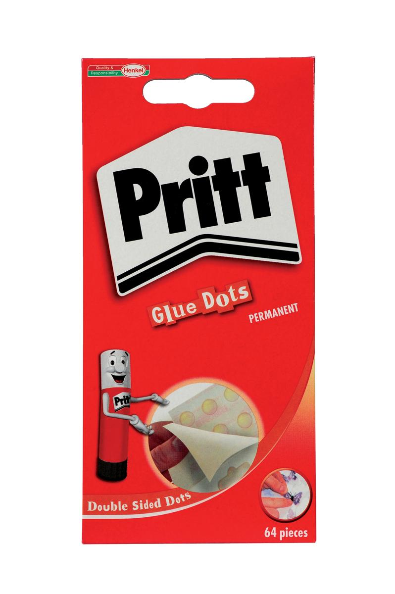 Image for Pritt Glue Dots Permanent Double-sided 64 per Wallet Ref 1444964 [Pack 12]
