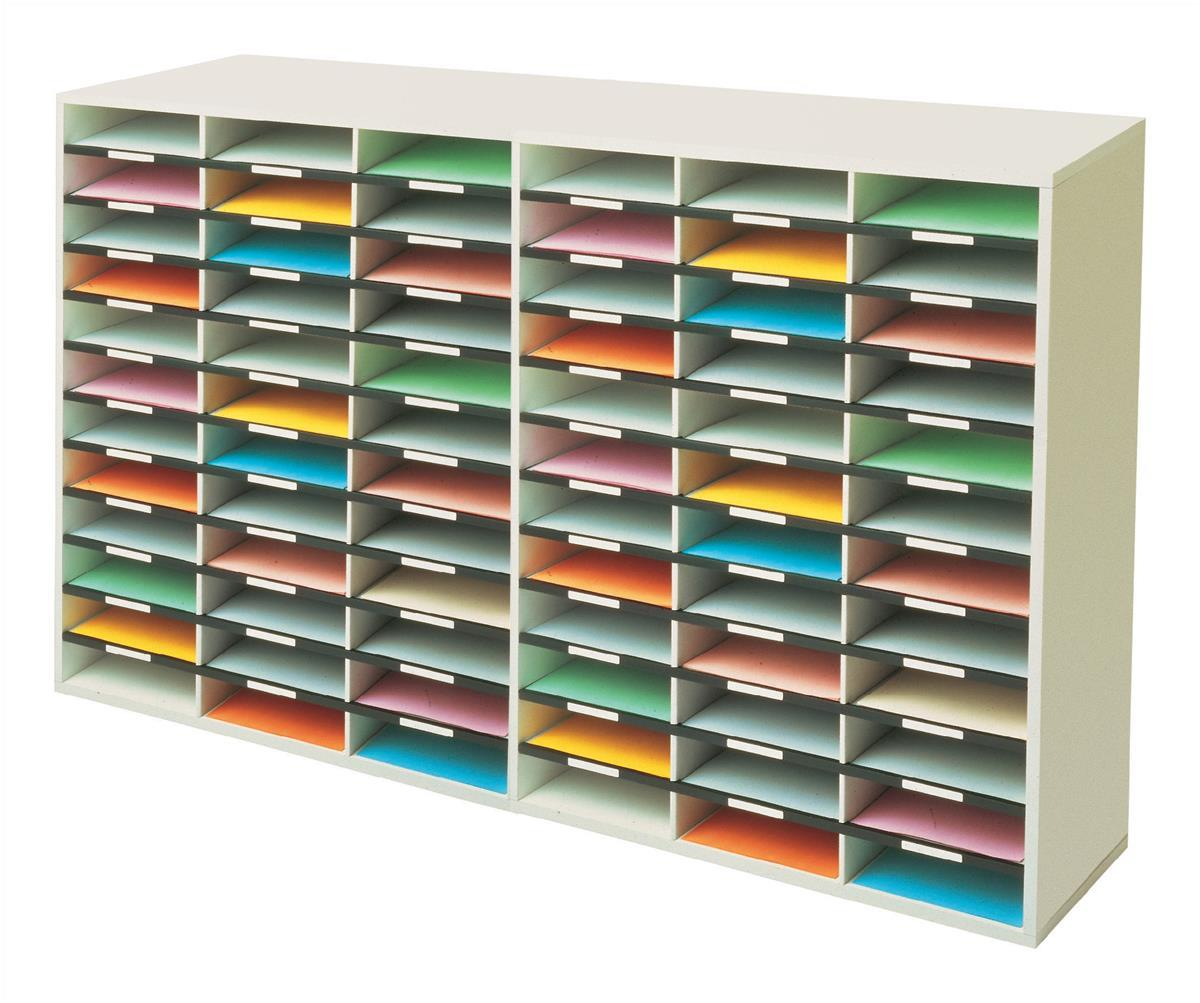 Image for Fellowes Literature Sorter Melamine-laminated Shell 72 Compartments [2x36 Sorters]
