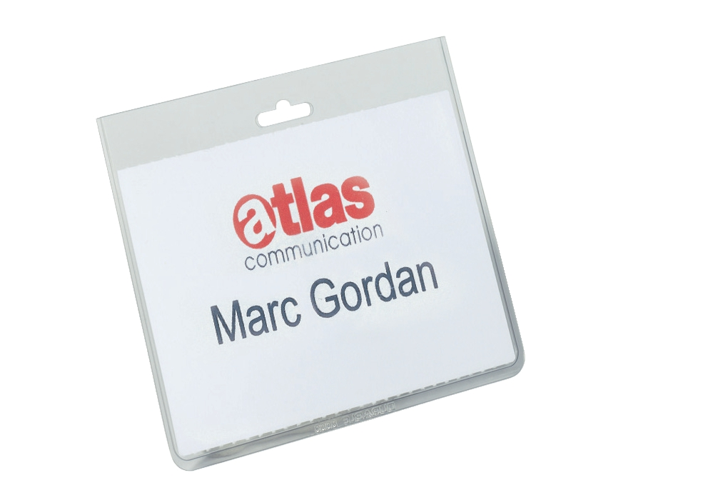 Durable Name Badges Security Without Clip W90x60mm Ref 813519 [Pack 20]