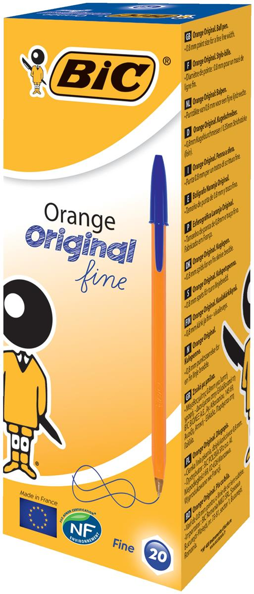 Bic Orange Ball Pen 0.8mm Tip 0.2mm Line Blue Ref 1199110111 [Pack 20]