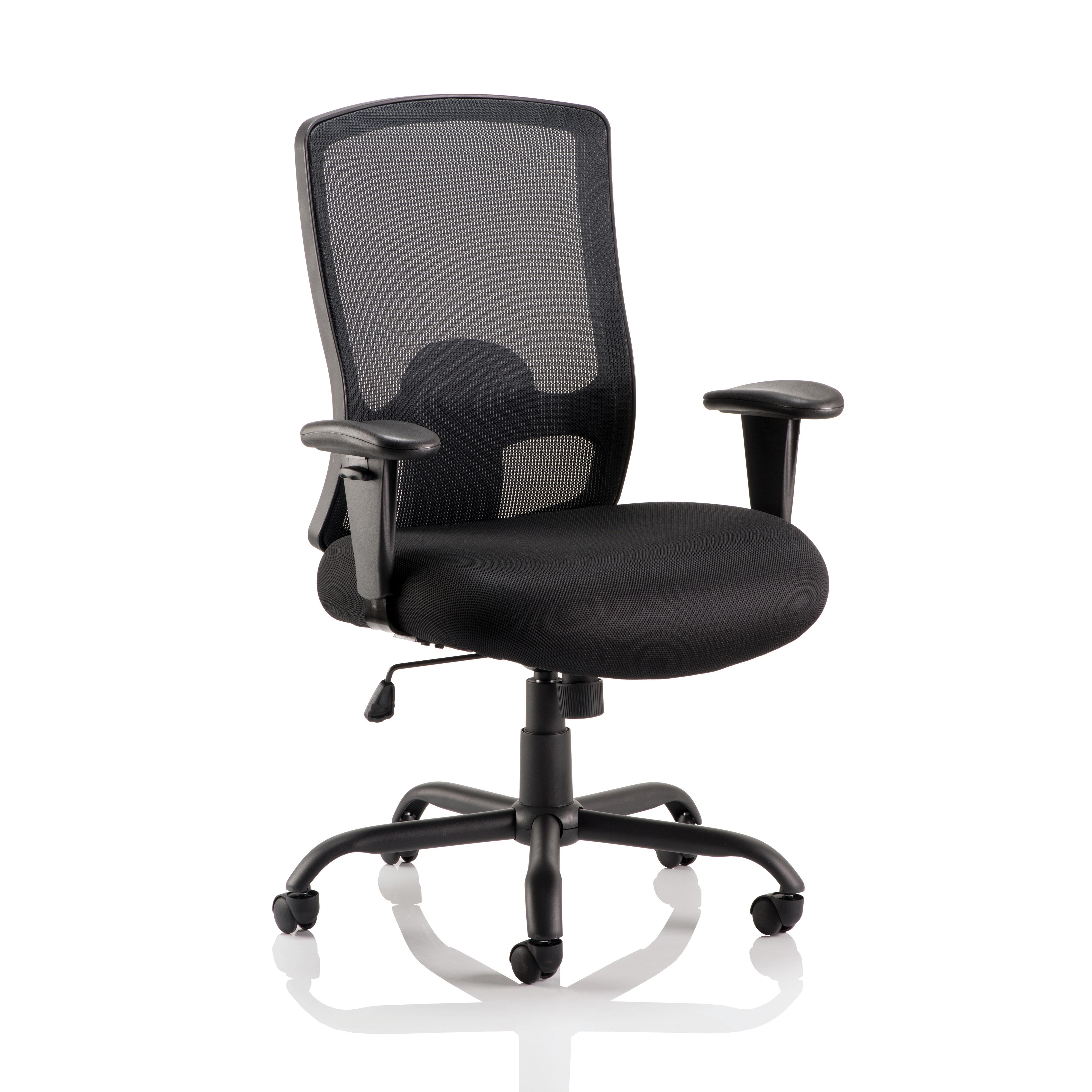 Sonix Portland Heavy Duty Mesh Chair Black 610x540x490-590mm Ref OP000106