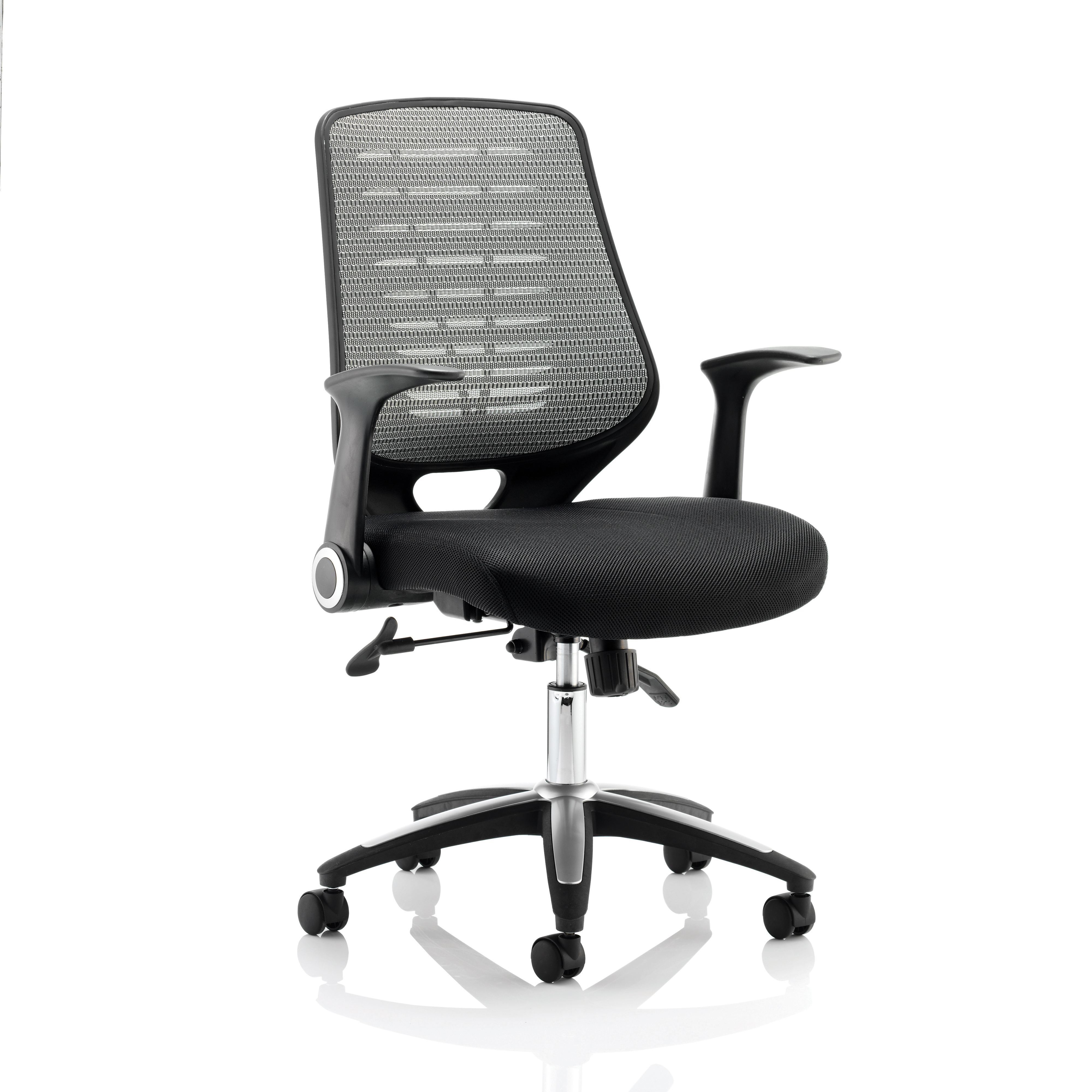 Task seating Sonix Relay Mesh Operator Chair Silver 500x490x460-550mm Ref OP000116