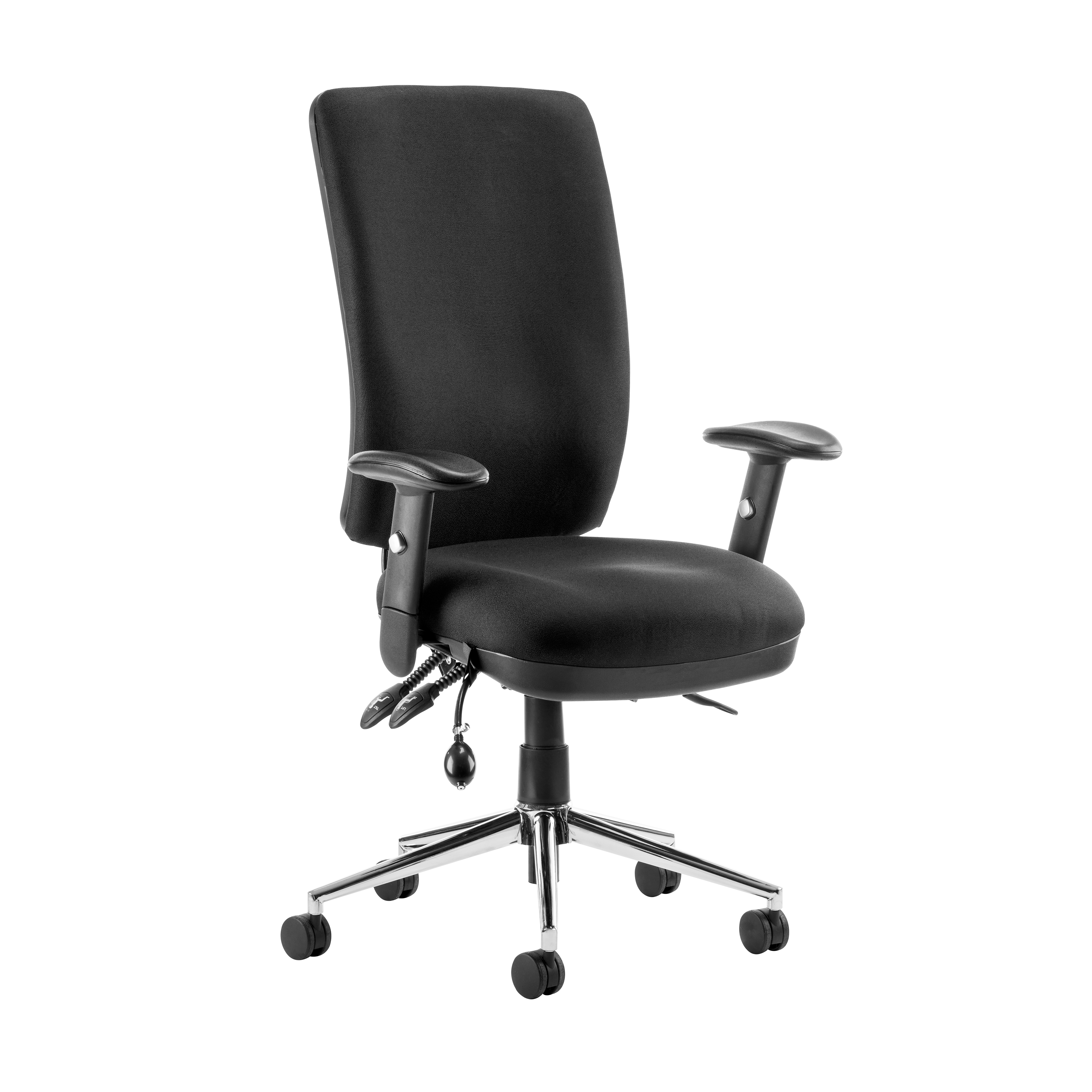 Task seating Sonix Support Chiro High Back Chair Black 510x480-540x500-600mm Ref OP000006