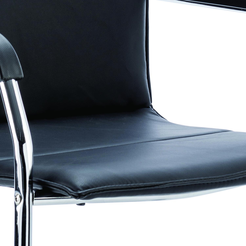 Sonix Echo Black Leather Chair 490x460x480mm Ref BR000178